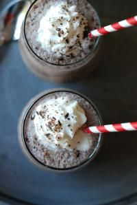Simple Frozen Hot Chocolate via lemonsforlulu.com