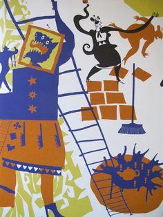 Book: Aan de kant ik ben je oma niet! Illustrations by Sylvia Weve