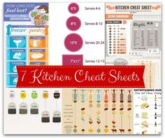 Kitchen Cheat Sheets (free printables!!) - wine & cheese parings, how long does food last, measurement conversion chart, veggie cooking chart, cake serving chart, tea steeping chart, anatomy of a cheese plate, meat cuts
