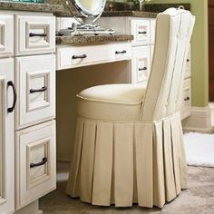 Homedecorators A Comfy Upolstered Chair For The Dressing Table In Natural Linen Look Fabric Home Pinterest Vanity Stool Stools And Vanities