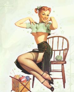 Rockabilly style knitter! Might be a possibility with the wifey.