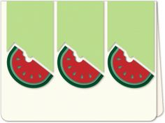 Silhouette Design Store - View Design #84279: watermelon trio a6 card