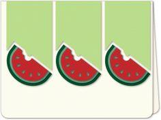 Silhouette Design Store - View Design #84279: watermelon trio a6 card