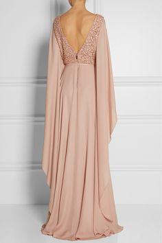 Elie Saab|Embellished belted silk gown|NET-A-PORTER.COM