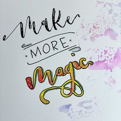 """Carolin on Instagram: """"Make • more • Magic 🧚🏻♀️💫🔮 My own resolution for 2020! #myletteringresolutions day 31 by @frauhoelle  #letterattackchallenge…"""" Resolutions, Designs, Magic, Day, How To Make, Instagram, Ideas"""