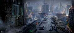 The Cold City, jeremy chong on ArtStation at http://www.artstation.com/artwork/the-cold-city