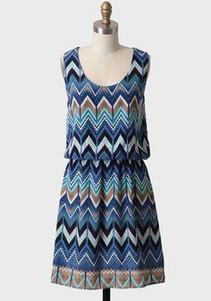 Bay Of Kotor Chevron Dress | Modern Vintage New Arrivals