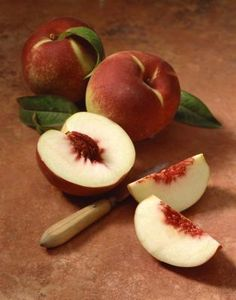 Okay, so this isn't a food to try but it is food related.  How to keep sliced peaches from browning.