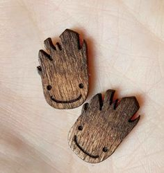 Baby Groot Laser Cut Wood Earrings