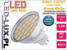 Żarówka MR16 27 LED SMD 5W = 55W 12V DC b. ciepła (3563564405) - Allegro.pl - Więcej niż aukcje.