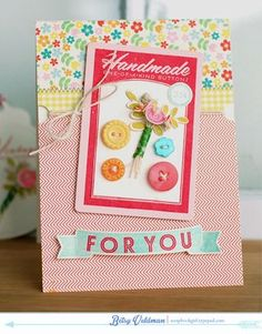 Button Boutique Revisited: Handmade For You Card by Betsy Veldman for Papertrey Ink (January 2014)
