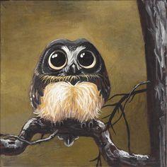 Owl by Andrea Gerstmann Art💗 Owl Art, Bird Art, Cute Owl Drawing, Owl Drawing Color, Little Bird Tattoos, Baby Owl Tattoos, Tattoo Owl, Owl Wallpaper, Owl Pictures