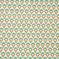 stoff grafische muster kokka stoff geommuster trkis und khaki 4 - Grafische Muster