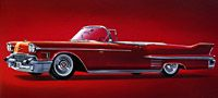 Plan59 :: Classic Car Art Gallery :: 1958 Cadillac Series 62 Convertible