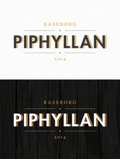 Logo for Piphyllan by Pennanen Design. Local collective cluster of creatives and art gallery.