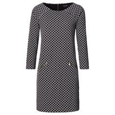 In een patroon is zwart en wit ook prachtig. Deze jurk is simpel, maar wordt…