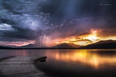 """Lightning at sunset"" by Alan Montesanto (http://500px.com/photo/77315191/lightning-at-sunset-by-alan-montesanto)"