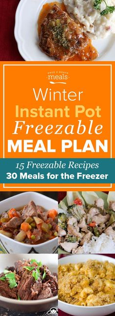 Stock up this winter on freezer meals for your instant pot that you can make straight from frozen! #InstantPot #PressureCooker