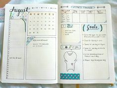 Monthly Bullet Journal Spreads - Snapshot Monthly Spread