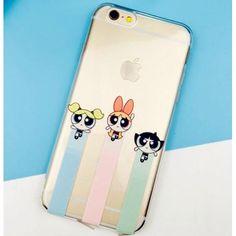 iPhone7/7 plus ケース Powerpuff Girlsパワーパフガールズ クリアアイフォンSE/6Sカバー 防塵プラグ付きソフトケース 保護力すごい キュート