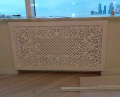 Radiator screen laser cut
