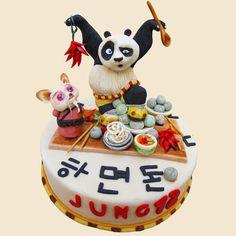 Torta di Kung Fu Panda in pasta di zucchero n.18