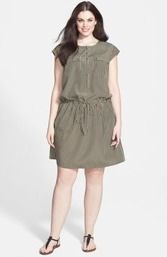 Caslon® Sleeveless Woven Popover Dress (Plus Size) available at #Nordstrom