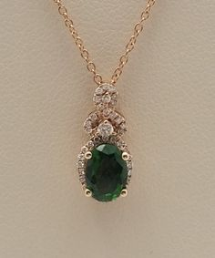 LeVian collection - diamond necklace with a tsavorite garnet. You can find it at Keswick Jewelers in Arlington Heights, IL 60005