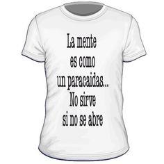 Maglietta personalizzata La mente es come un paracaidas no sierve si no se abre