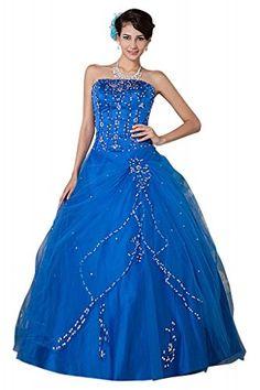 GEORGE BRIDE Koeniglichen Stil traegerlose Satin Ballkleid Abendkleid ,Groesse 44,blau GEORGE BRIDE http://www.amazon.de/dp/B00MHN3G6I/ref=cm_sw_r_pi_dp_iMeTub0D9B5KT