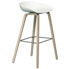 About a Stool bar stool, white - oak - Hay About A Chair - Chairs - Furniture - Finnish Design Shop