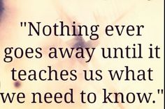 Nothing ever goes away.