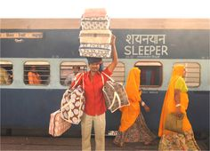 Colorful printed fabrics are to India what china is to China. I suppose the train is another way to ride colorfully through India. Namaste, India Colors, Train Travel, India Travel, Incredible India, Color Photography, Belle Photo, Beautiful World, Textiles