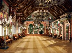 Hall of the Singers - Neuschwanstein - Joseph Albert - Library of Congress