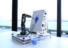 Picture of Pointillist Painting Robot Arm