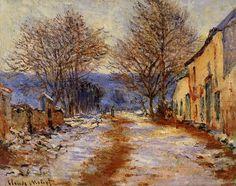 Snow Effect at Limetz 1885-1886 | Claude Monet | Oil Painting #impressionism