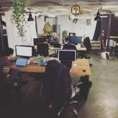 On #bosse à @lacoroutine de #lille ! Super ambiance ! #convivialité #freelance #entrepreneur