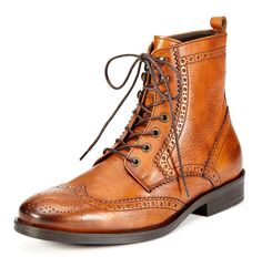 Men's wingtip brogue ankle boot from testoni BASIC