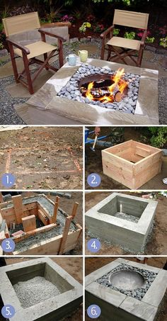 30 great DIY ideas to turn a few paving stones into a beautiful fire pit . - 30 great DIY ideas to cheaply build a nice fireplace from a few paving stones Fire pit backyard, Fi - Cheap Fire Pit, Diy Fire Pit, Fire Pit Backyard, Backyard Patio, Backyard Landscaping, Backyard Seating, Landscaping Ideas, Modern Backyard, Patio Stone
