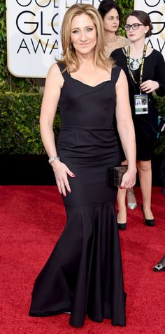 Golden Globes 2015: Red Carpet Arrivals - Edie Falco from #InStyle