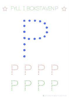 aktivitetsblad, pyssel, knep och knåp, lära sig abc, lära sig skriva, lära sig alfabetet, lära sig läsa, fylla i bokstäver, lektioner, svenska, skola, förskola, fritids, lektionsmaterial, barn, skolbarn, gratis lektioner, fyll i, skriv, bokstaven P