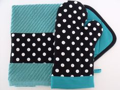 Polka Dot with Teal for Kitchen