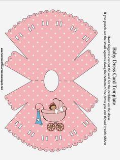 Cochecito Rosa de Bebé: Invitaciones para Imprimir Gratis.