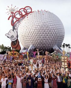 Cast Members at EPCOT for the Millennium Celebration. #WDW