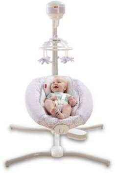Sooth your baby with the Fisher-Price Deluxe Cradle 'n Swing. This plush infant swing plays sweet music and rocks at a gentle speed your baby will enjoy. Rest assured knowing he's in safe hands with this high quality baby swing. Graco Baby Swing, Baby Cradle Swing, Wooden Baby Swing, Baby Swings, Fisher Price Baby Swing, Best Baby Bouncer, Outdoor Baby, Everything Baby, Baby Needs