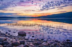 White night sunset on a Swedish lake by Dmytro Korol on 500px
