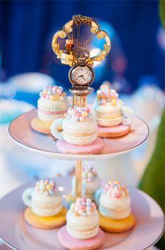 Macaron Tea Cups {Alice in Wonderland Party}