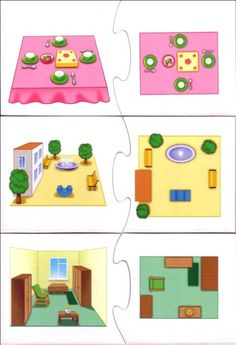 Lezen van eenvoudige plattegronden met kleuters 2, free printable