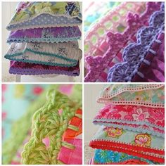 Crochet edges for pillowcases, partial tutorial, you need to know how to crochet