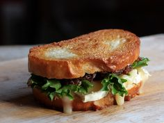 Bacon Jam and Brie Grilled Cheese Sandwich